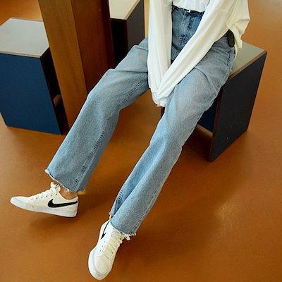 ★韓国商品c039★(Deepny)ジェラルディンデニムワイドパンツ♥女性ファッション服/シャツ、ナシファッション♥