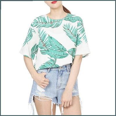 [ラップ]椰子の木のブラウス(AH7XXW61) /ルーズフィット/ロングシャツ/ブラウス/ 韓国ファッション