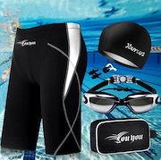 10f3e394915 メンズ 水着 男 パンツ フィットネス スイムウェア 大きいサイズ 競泳 海水 水泳 キャップ ゴーグル 耳栓