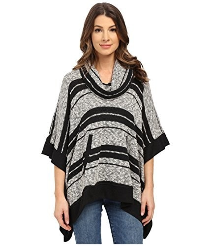Splendid Womens Striped Poncho (m/lg)