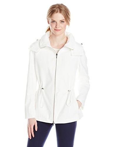 Calvin Klein Womens Reversible Short Anorak Jacket, Soft White, Medium