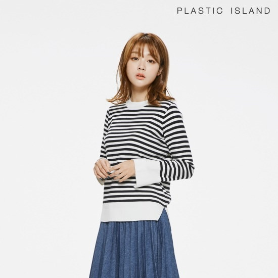 プラスチックアイルランドプラスチックアイルランド・ストライプニットPH1KL201srcLangTypeko ニット/セーター/ストライプニット/韓国ファッション