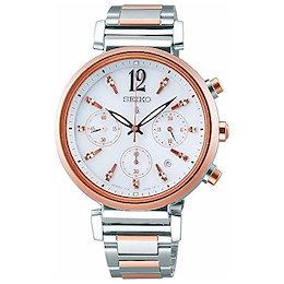 [ルキア]LUKIA 腕時計 LUKIA ソーラークロノグラフ 輝き略字 SSVS034 レディース