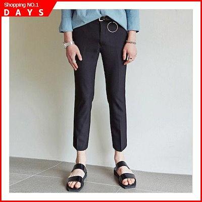 [ヤンソティン][YAN13]STANDARD CROPPED SLACKSBLACK1891820 /パンツ/面パンツ/韓国ファッション