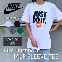 【NIKE】男女兼用 レディース ナイキ JUST DO IT ロゴプリント 半袖 Tシャツ