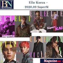 【SuperM-当店特典付き】 Elle Korea  2020.910  表紙-画報 SuperM TAEMIN BAEKHYUN KAI TAEYONG MARK LUCAC TEN 8種選択