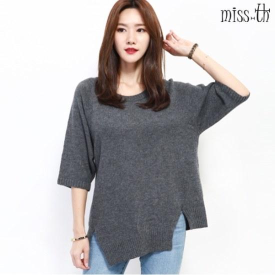ミスティーに一ルーズフィット7部ニット ニット/セーター/ニット/韓国ファッション