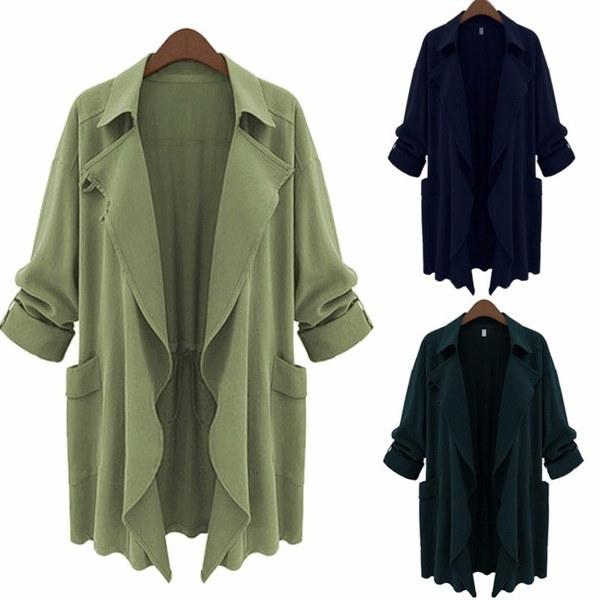 2017新しいファッションカーディガンレディースシフォンロングスリーブルースフィットジャケット