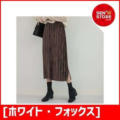 [ホワイト・フォックス][ホワイト・フォックス]Hライン沿いに広がることバンディングベルベットスカート /スカート/ロングスカート/ 韓国ファッシム