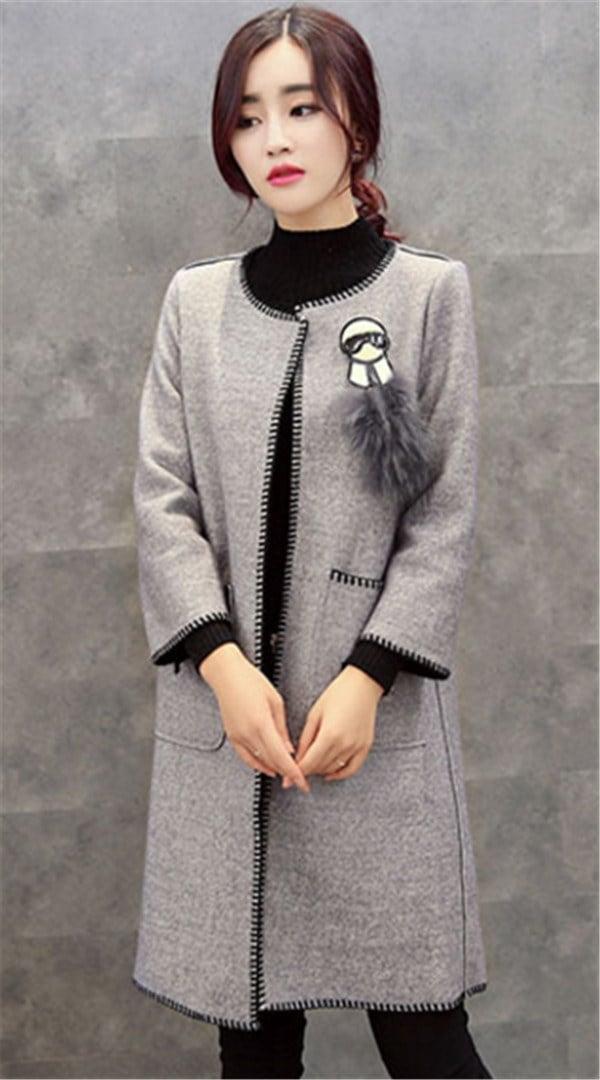ジャケット カシミヤ 秋新作 ファッション ひも付き フリース スリム  コットン クラシック スクール レジャー