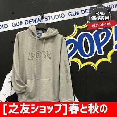 [之友ショップ]春と秋のフードシャツ(DCKBH05/21) /ティーシャツ / ソリッ/ド/無知ティーシャツ / 韓国ファッション