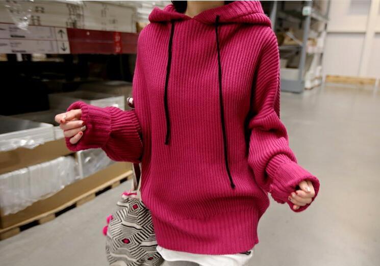 RED-SUGAR 秋冬物原宿風頭からかぶるセーターコート緩和粗毛糸韓国女学生ulzzangファッション