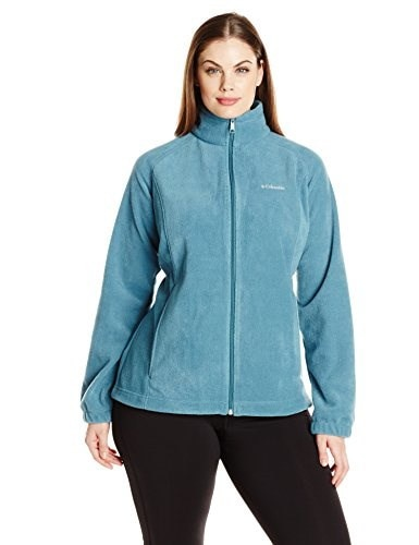 Columbia Womens Plus-Size Benton Springs Full Zip, Cloudburst, 3X