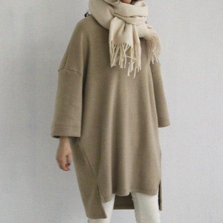 [naning9]メルトン表起毛ワンピースkorea fashion style