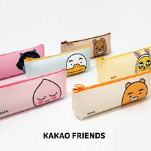 【Kakao friends】カカオフレンズミニ三角ペンケース・ポーチ/Kakao friends mini triangle pen case/6種・195X60X35㎜