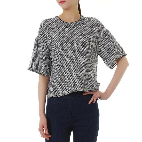 シスレー小売ラッフル愛らしいニートSAKPN2631 ニット/セーター/韓国ファッション