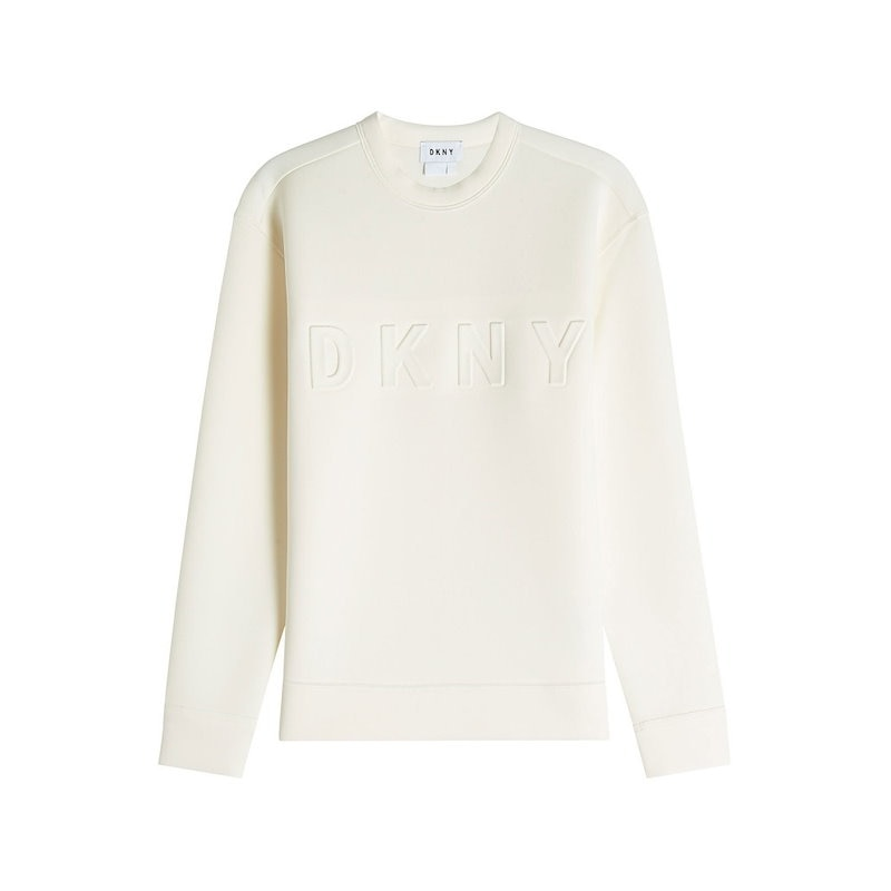 ダナキャランニューヨーク DKNY レディース トップス カジュアルシャツ【Sweatshirt with Logo】white