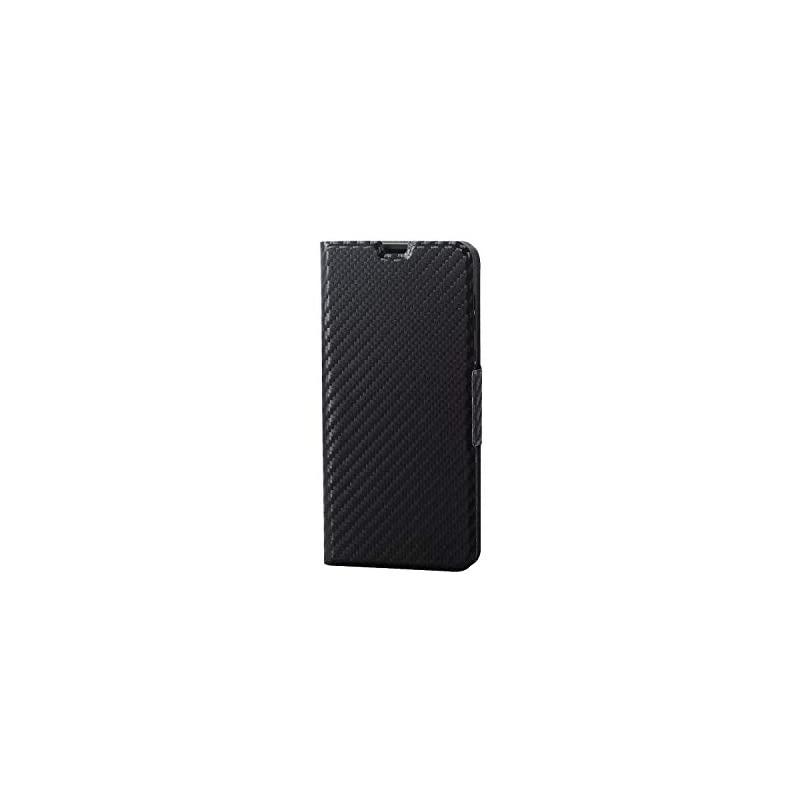 【即納】エレコム AQUOS sense2 ケース SH-01L SHV43 手帳型 レザー ウルトラスリム ICカード収納 サイドマグネットフラップ スタンド機能付き PM-SH01LPLFUCB