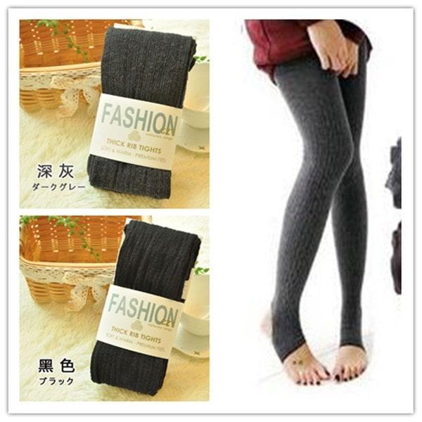 Winter Warm Comfortable Leggings Women Cotton Tights Pants Leggings Stirrup Trousers One Size