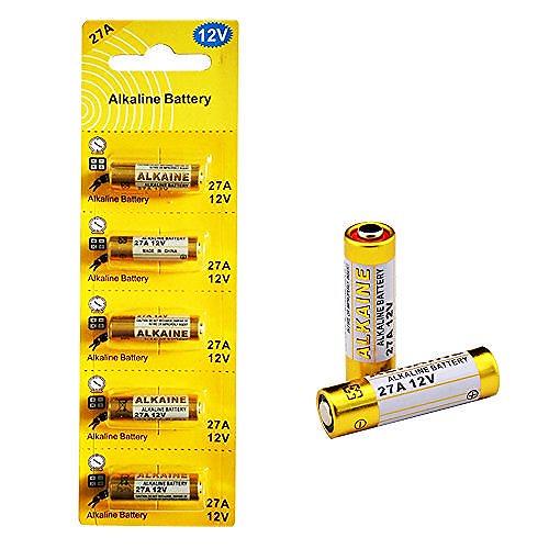 5本セット 27A 12Vアルカリ電池【A27、G27A、PG27A、MN27、CA22、L828、EL812、L27A互換