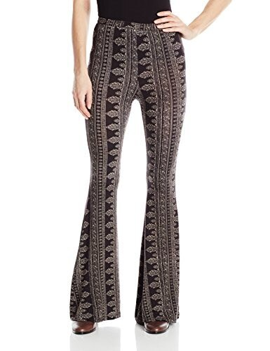 Wrangler Womens Rock 47 By Fit and Flare Palazzo Pant, Black/Cream, Medium