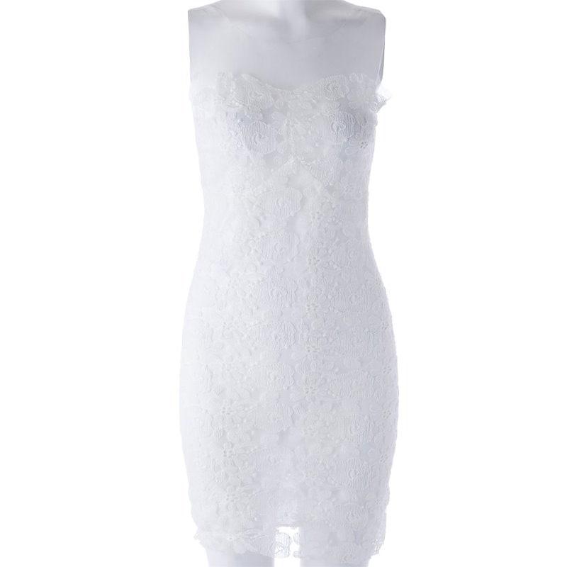 女性のためのスタイリッシュなストラップレスOpenwork Bodyconドレス
