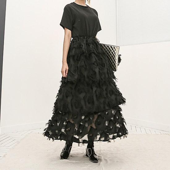 ブルランチョラグジュアリー、レースやフリルのワンピースop01986 綿ワンピース/ 韓国ファッション