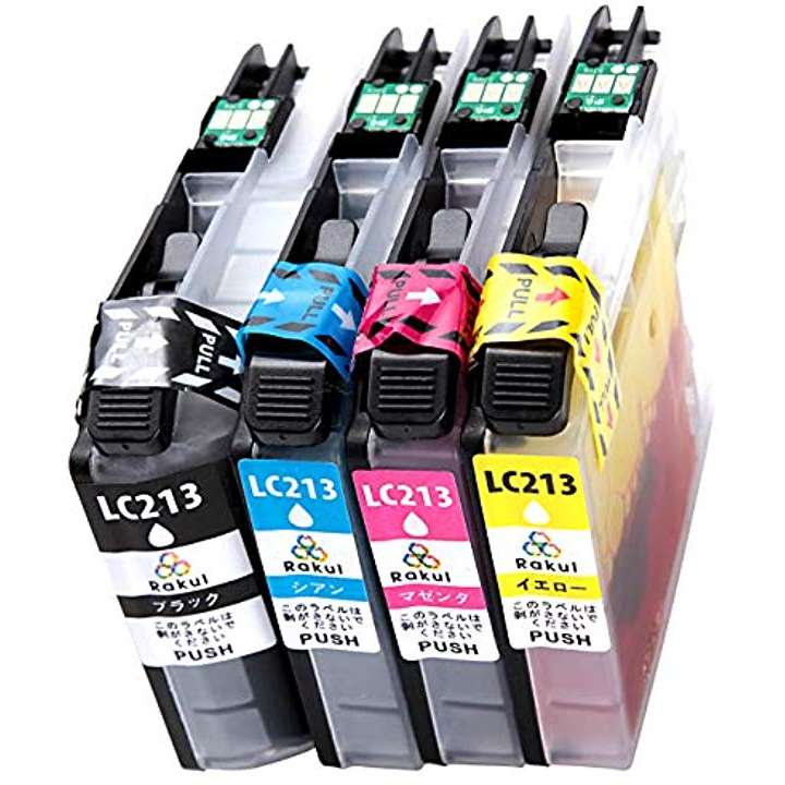 brother ブラザー LC213-4PK 互換インク カートリッジ 残量表示 ICチップ 対応機種 DCP-J4225N(4色セット 14.2 x 9.8 x 4.6 cm)