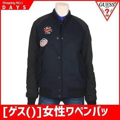 [ゲス()]女性ワペンパッチウールパディングスタジアムコート(YG4W6850) /ジャケット/ウールジャケット/カシミアジャケット/韓国ファッション