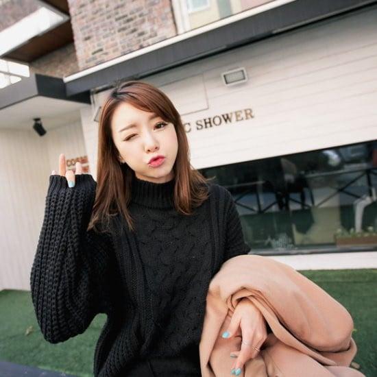 キュニゴルスすらすらとホットチョコニットティー ニット/セーター/ニット/韓国ファッション