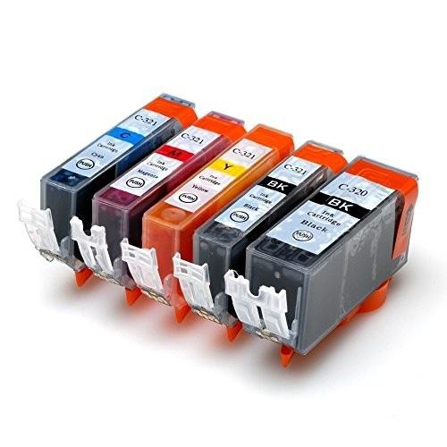 キヤノンBCI-321+320/5MP 5色セット ICチップ付 増量版 互換インクカートリッジ