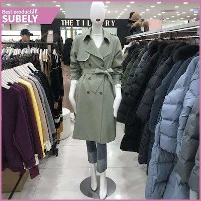 ダブルトレンチ(TJ2M0TC51/柿) /トレンチコート/コート/韓国ファッション