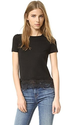 Theory Womens Lilany Sweater Top, Black, Large
