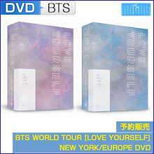 BTS WORLD TOUR [LOVE YOURSELF] NEW YORK/EUROPE DVD (CODE ALL) 1次予約