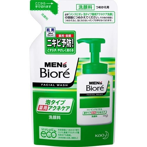 メンズビオレ 薬用 泡タイプ アクネケア 洗顔 つめかえ用 130ml