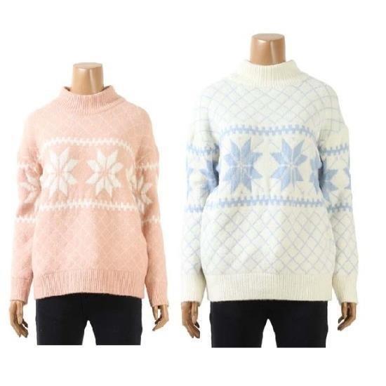 カルチャースター雪花ニットWSKPH101 / ニット/セーター/タートルネック/ポーラーニット/韓国ファッション