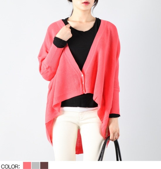 ピトンジンピトンジンYUWG1493女八十ナチュラルボックス・ニットカディゴンD D ニット/セーター/ニット/韓国ファッション