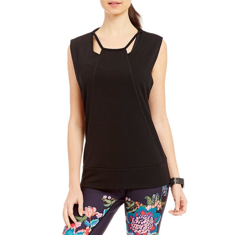ナネット レポー レディース トップス【Nanette Lepore Play Active Cut Out Pullover Top】Black