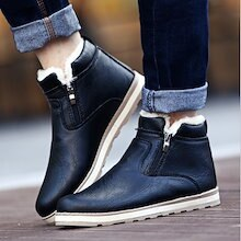 3color!ムートンブーツ スリッポンメンズシューズ/ 紳士靴  韓国 ブーツ メンズ 靴 スノーブーツ チャッカブーツ PU革靴