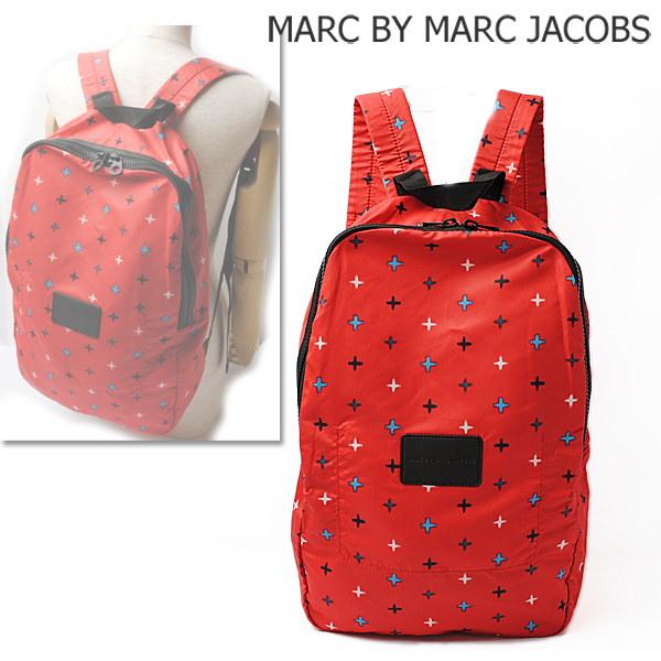 マークバイマークジェイコブス リュックサック/バックパック MARC BY MARC JACOBS パッカブルズ RED MULTI/レッドマルチ M0001035B