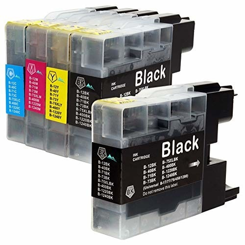 brother(ブラザー) 互換インク LC12 4色+BK5本 ICチップ残量表示検知機能付き Mt. Smile製 互換 インク カートリッジ LC 12 LC12-4PK サービス