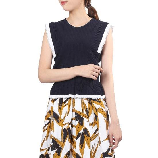 エッコノラブリー配色ニットAMSW7B114 ニット/セーター/韓国ファッション