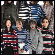 国内発送、送料無料、韓国ファッション、春の新しいスタイル、カジュアルTシャツ、カジュアルシャツ、ワンピース、カジュアルパンツ、ロングスカート、パンタロン、ボーダ