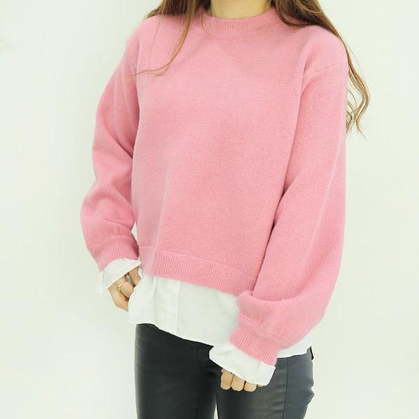 【海外直送】ショットソフトニット フリーサイズ 韓国ファッション レディースファッション