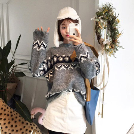 【Imvely]スノーワルツウールニットkorean fashion style