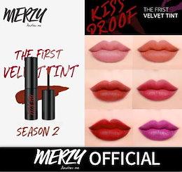 【MERZY】 1+1 THE FIRST VELVET TINT season 2 / ベルベットティントシーズン2/ 新作ティント / キスプルーフ / 落ちない / MLBBシティームード