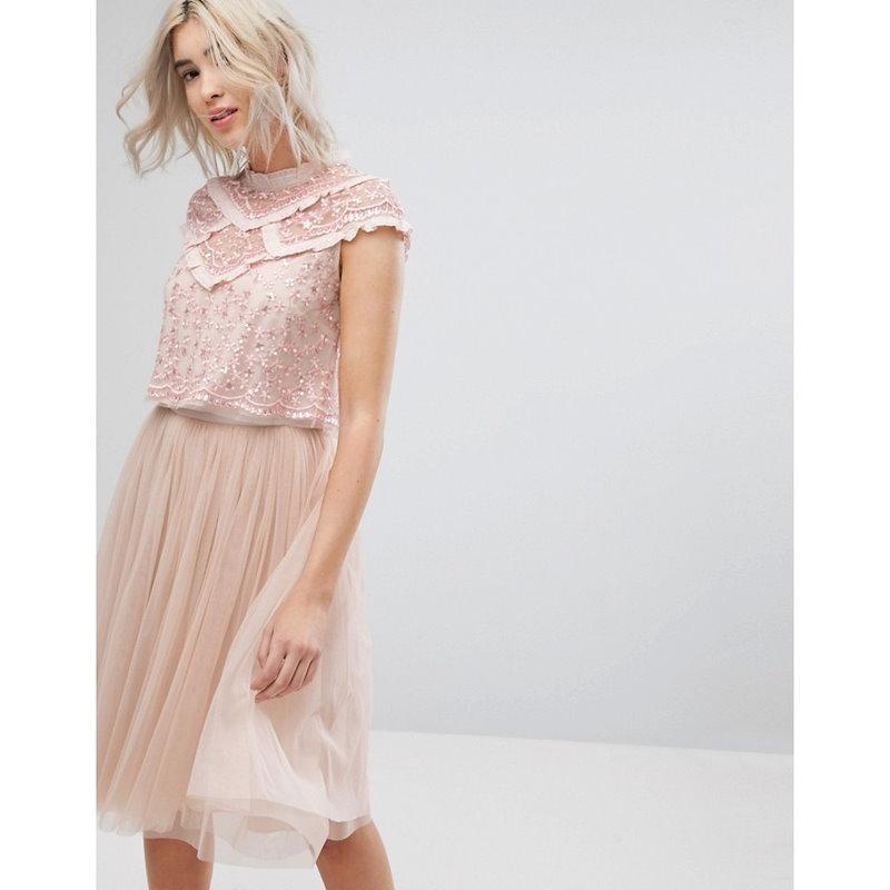 ニードル アンド スレッド レディース トップス【Needle & Thread Daisy Shimmer Top】Petal pink