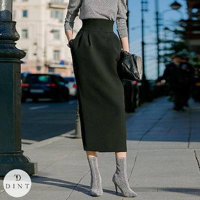 DINT(韓国ファッション)「DINT」 ★送料無料★SK9016♥ハイウエストスリムスカート♥ラグジュアリーオフィスルック♥働く女性のお洒落なオフィススタイル提案!!