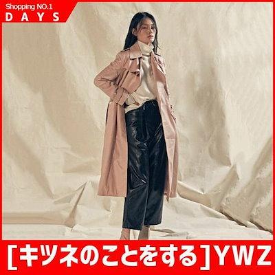[キツネのことをする]YWZラムスキントレンチコートインディアンピンク /デニムジャケット/ジャケット/韓国ファッション