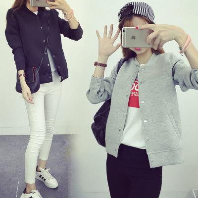 【 一番安い】春秋 韓国風 ジャケット スタジャン ショートコート 長袖 純色 パーカー シンプル スレンダーライン レディーズ女性 カジュアル ファッション 合わせやすい ゆったり